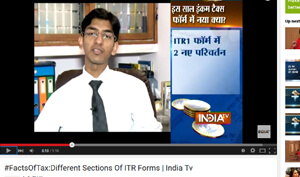 #FactsOfTax:Different Sections Of ITR Forms | India Tv